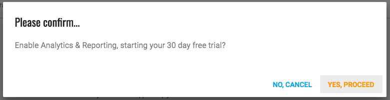 Confirm start trial