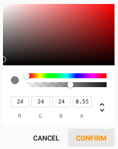 In-App Message Template - Color Picker