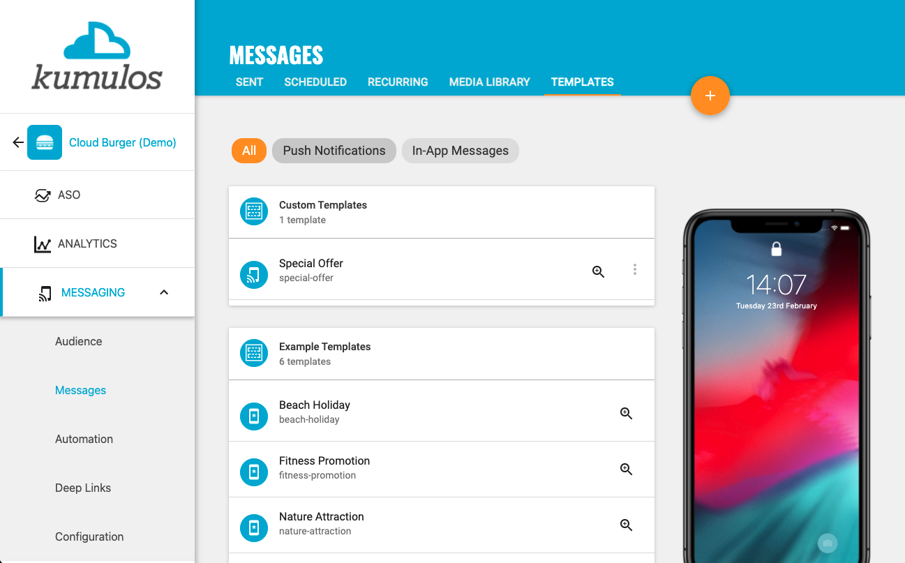 In-App Message Template - Library